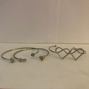 Jewelry - Set of 3 Heart Bracelet Cuffs